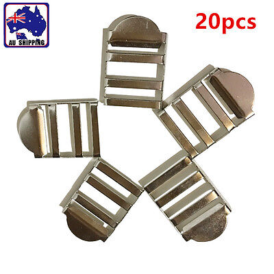 20pcs Metal Ladder Buckles Slider Release Lock 25mm Straps Webbing CKBU66001x20