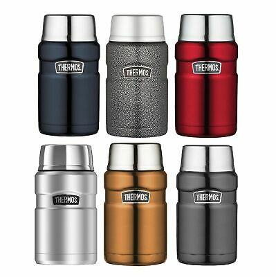 NEW THERMOS 710ml FOOD JAR Stainless Steel Insulated SS RED BLUE SILVER