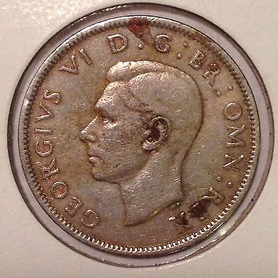 Great Britain,1947, Florin(2, Two Shillings) Coin, Nice Original Vintage