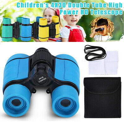 Children's Rubber Glass Kids Binoculars Telescope 4x Magnifying glass Toy GL
