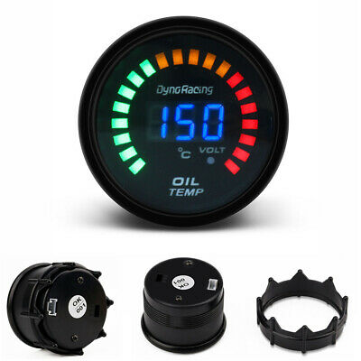"2"" 52mm Car Smoke Lens LED Digital / Analog Oil Temp Temperature Gauge Meter"