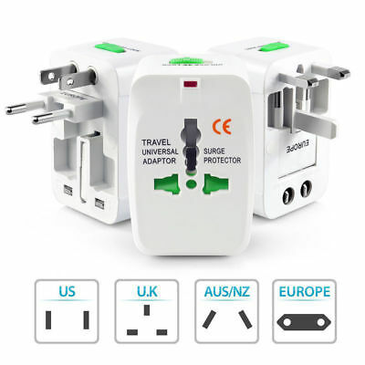 Universal EU AU UK US To Worldwide Travel AC Power Plug Adapter Outlet Converter