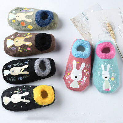 Baby Non-Slip Cartoon Children's Slipper Socks Infant Toddler Socks Shoes