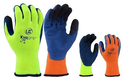 5 x UCi KOOLgrip™ Thermo-Star Latex Palm Coated Thermal Cold Winter Grip Gloves