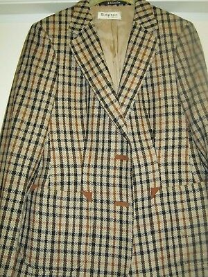 Ladies Vintage Daks House Check Jacket by Simpson's Piccadilly. Size 10. 1970s
