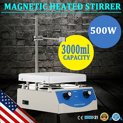 SH-3 Hot Plate Magnetic Stirrer Mixer Stirring Laboratory 3000ml Dual Control