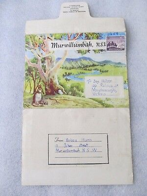 Vintage Murray Views Foldout Colour View Folder - MURWILLUMBAH, NSW, 1959