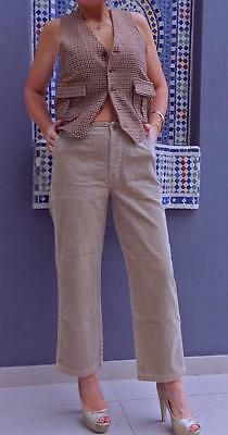 VINTAGE  Utility Sport 1980s Original High Waisted Corduroy Retro Pants