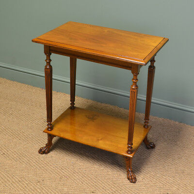 Unusual Victorian Walnut Shoolbred Antique Occasional / Lamp Table