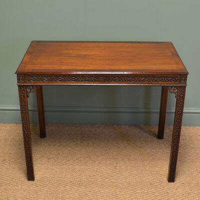 Superb Quality Edwardian Mahogany Chippendale Revival Antique Side Table
