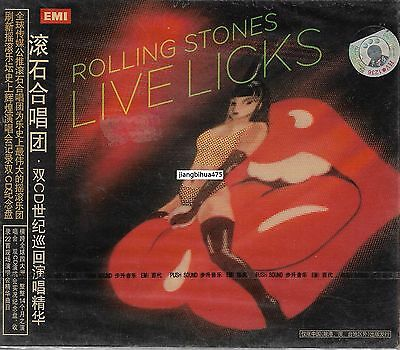 The Rolling Stones Live Licks China 2CD w/slipcase Sealed