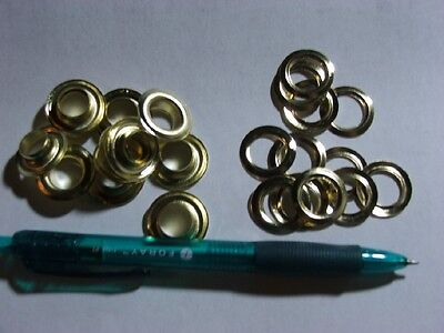 """#4= 1/2"""" Grommets and washes 100  Brass Eyelet Grommets and Washers"""