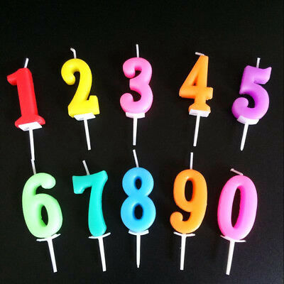 Birthday Cake Toppers Number Candles Party Candle Numbers  1st 2nd 13th 16th