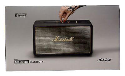 Marshall Stanmore Portable Bluetooth Speaker with Bass & Treble Control in Black