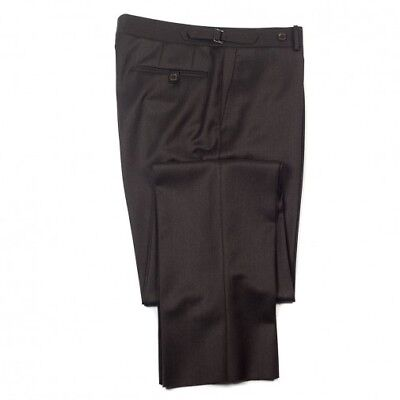 """Boys Men's Brown Formal Morning Wedding Prom Drama Stage Trousers 22"""" 54"""" Waist"""