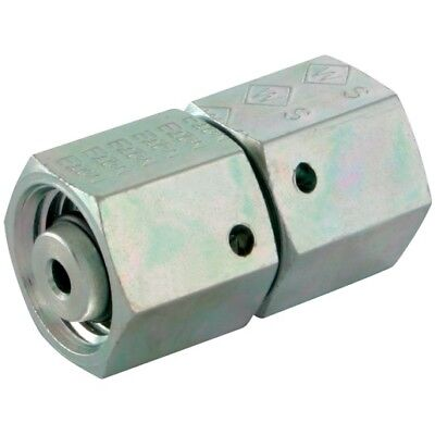 Hydraulic Compression Equal Female Tube Connector 6mm 6L