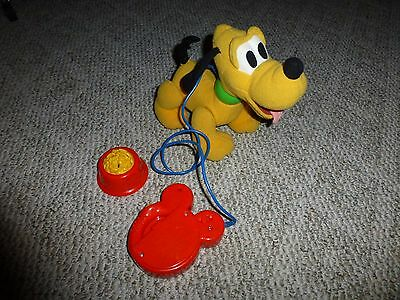 Disney walking pluto plush with leash and bowl of food (Mickey mouse clubhouse)