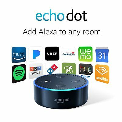 All-New Echo Dot 2nd Generation w/ Alexa Voice Media Device - All New Black