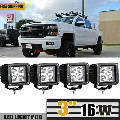 4x 27W 4inch CUBE LED Work Light Spot Fog Lamp Boat Truck Jeep Offroad Cart Car