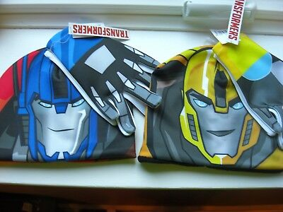 NEW Transformers Optimus Prime OR BUMBLEBEE HALLOWEEN Beanie Hat & Gloves Set