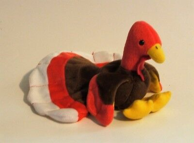 TY Beanie Babies 1997 Gobbles Turkey - Retired - Tush Tag Only