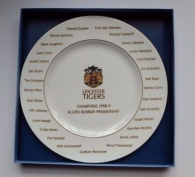 Wedgwood Leicester Tigers Rugby Champion 1998-9 Allied Dunbar Premiership Plate