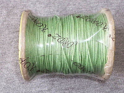 10 x METRES OF GOOD STRONG 1mm PALE GREEN COTTON CORD