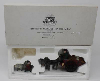 Dept 56 Dickens Village Bringing Fleeces To The Mill Set of 2 #58190
