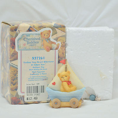 """Enesco Cherished Teddies """"Follow Your Heart Wherever It Takes You"""" - #537241"""