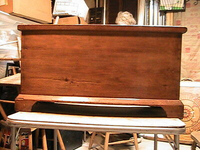 Early American Pine Blanket Chest New England TOC Very Nice