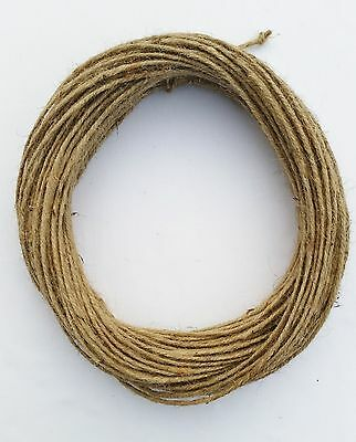 3mm Thick 3 Ply Natural Brown Soft Jute Twine Sisal String Rustic Shabby Cord