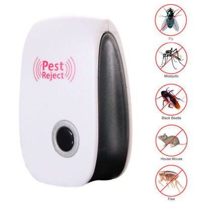 4x Electronic Ultrasonic Anti Pest Bug Mosquito Cockroach Mouse Killer Repeller
