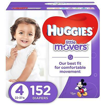 ***NEW*** Huggies Little Movers Diapers Size 4, 152 Count ***FREE SHIPPING***