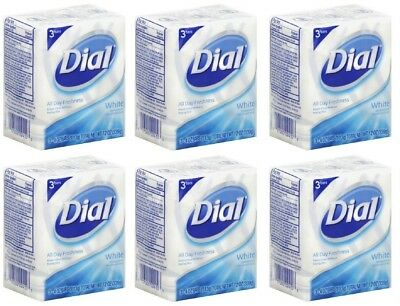 (PACK OF 18 BARS) Dial Classic WHITE Antibacterial Bar Soap. Round the Clock