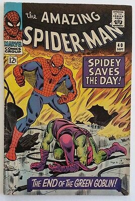 The Amazing Spider-Man #40 (Sep 1966, Marvel) written and edited by Stan Lee