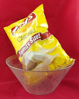 Coca-Cola Large Snack Bowl Embossed Frosted Glass w/ Bottle & Logo Designs