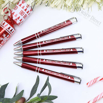 25 x Wholesale Engraved Red Metal Pen + 25 x Pouches Christmas Stall Business