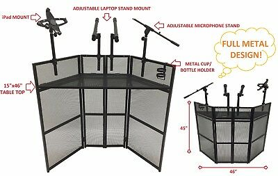 """CedarsLink DJ Event Facade Black Metal Frame Booth With 15""""x46"""" Table Top"""