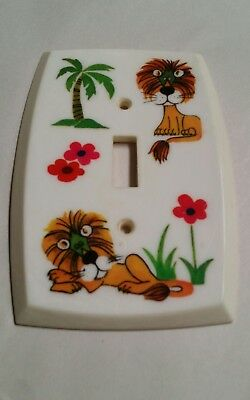 1972 American Tack & Hardware Co Lion Single Light Switch Plate Cover
