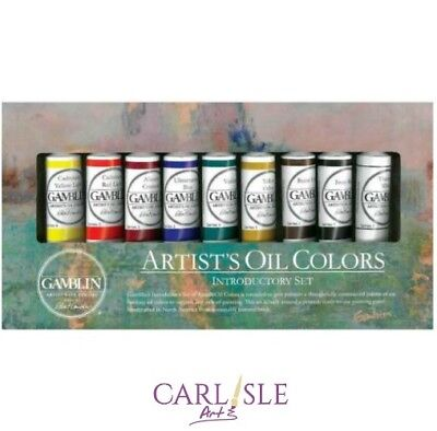 Gamblin Artist's Oil Colours, Introductory Set, 9 colours, 37ml tubes