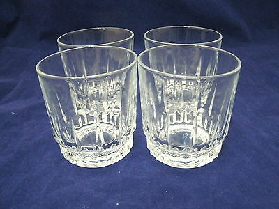 "Luminarc Cristal d'Arques Durand DIAMANT Set of 4-3 1/2""  Old Fashioned Glass #3"