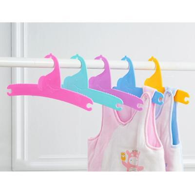 5PCS Baby Toddler Kids Children Clothes Hangers Cloths Coat Blue Pink Green