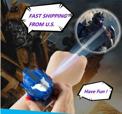 Kids Cartoon Watch Projector Transformers Optimus Prime cosplay Light 24 images
