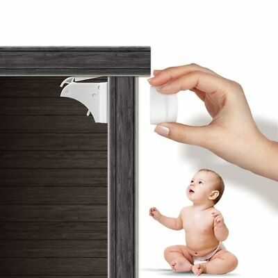 Child Safety Locks For Drawers And Cabinets, Easy To Install Baby Proof Magnetic