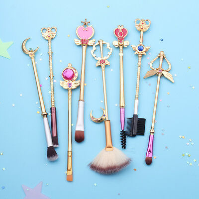 Sailor Moon Golden Women Beauty Makeup Brushes Set Fashion Makeup Brush