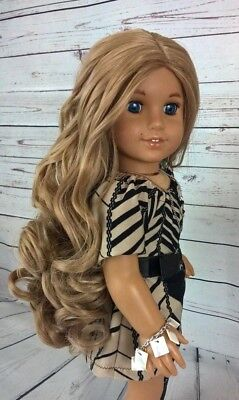 "10-11 Custom Doll Wig fit Blythe-American Girl-1/4 Size ""Twisted Sandstone"" bn1"