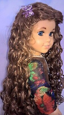 "10-11 Custom Doll Wig fit Blythe-American Girl-1/4 Size Doll ""Hazelnut"" bn1"