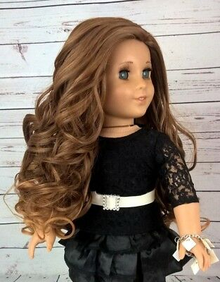 "10-11 Custom Doll Wig fit Blythe-American Girl-1/4 Size ""Caramelized Pecan"" bn1"