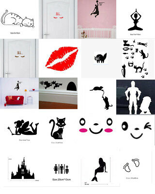 Removable Eyelashes Wall Sticker Art Decal Mural Living Room Home Decor DIY Lots