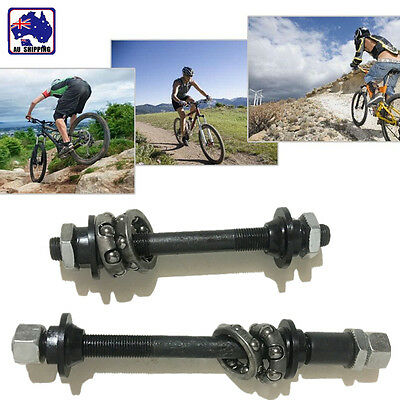 1Pair Front + Rear Bike Bicycle Hollow Quick Release Axles W Bearing TBIS74402